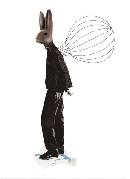 O.T. (Hase mit Fallschirm)